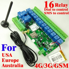 16 way relay switch output 4g 3g and gsm controller