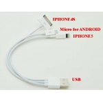 Multifunction 3 in 1 usb Data Sync Charging Cable for iPad iPhon