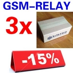 3 Sets GSM-RELAY order package + Free shipipng with DHL