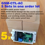 5 sets GSM-CTL-AC GSM SMS Remote Controller