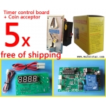 5 set Coin operated timer board with coin acceptor