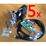 5 sets of WF-500USB control board with SK coin acceptor