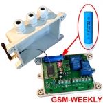GSM Weekly timer controller,one Alarm input ,battery on board