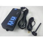 Double outlet GSM Power strip Remote control power socket