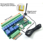 16 Way Relay Switch output GSM controller