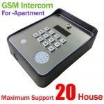 GSM intercom for apartment,maximum 20 houses