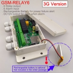 3G version GSM-RELAY6 SMS remote controller and 6 alarm input