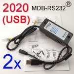 2 sets 2020 version MDB-RS232 Adapter box (USB)